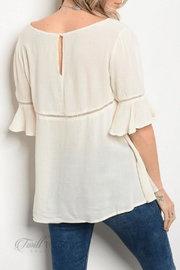 Chloah Ivory Peasant Blouse - Front full body