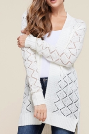 Staccato Ivory Pointelle Cardigan - Product Mini Image