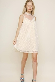 Umgee USA IVORY POLKA DOT DRESS - Product Mini Image