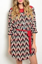 Ivory Red Black Dress - Product Mini Image