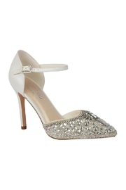 De Blossom Collection Ivory Rhinestone Bridal Heels - Front cropped