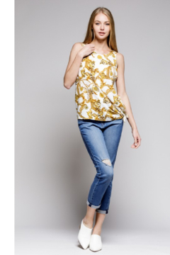 MTS Ivory Scarf Print Top - Alternate List Image