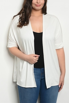 Lyn-Maree's  Ivory Short Sleeve Cardi - Alternate List Image