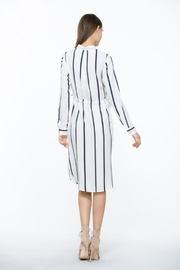The Room Ivory Stripe Dress - Back cropped