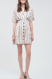 Blu Pepper Ivory Striped Dress - Product Mini Image