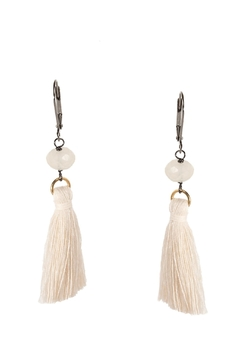 Dana Herbert Ivory Tassel Earrings - Alternate List Image