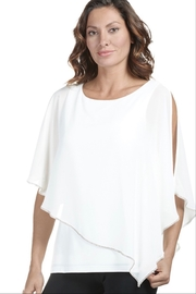 Frank Lyman Ivory Top with cape like overlay - Product Mini Image