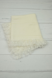 Granlei 1980 Ivory & Tulle Blanket - Front cropped