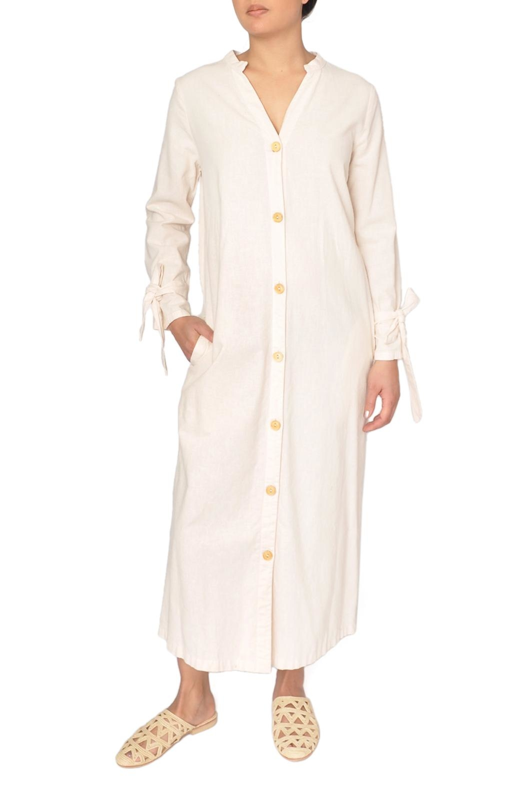 LACAUSA Ivory Tunic Dress - Main Image