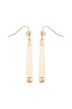 Riah Fashion Ivory Wrapped Earrings - Product List Image