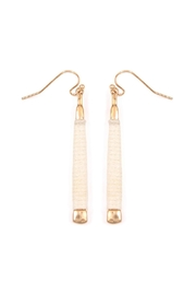 Riah Fashion Ivory Wrapped Earrings - Product Mini Image