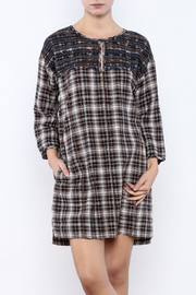 Ivy Jane / Uncle Frank  Plaid Embroidered Dress - Product Mini Image