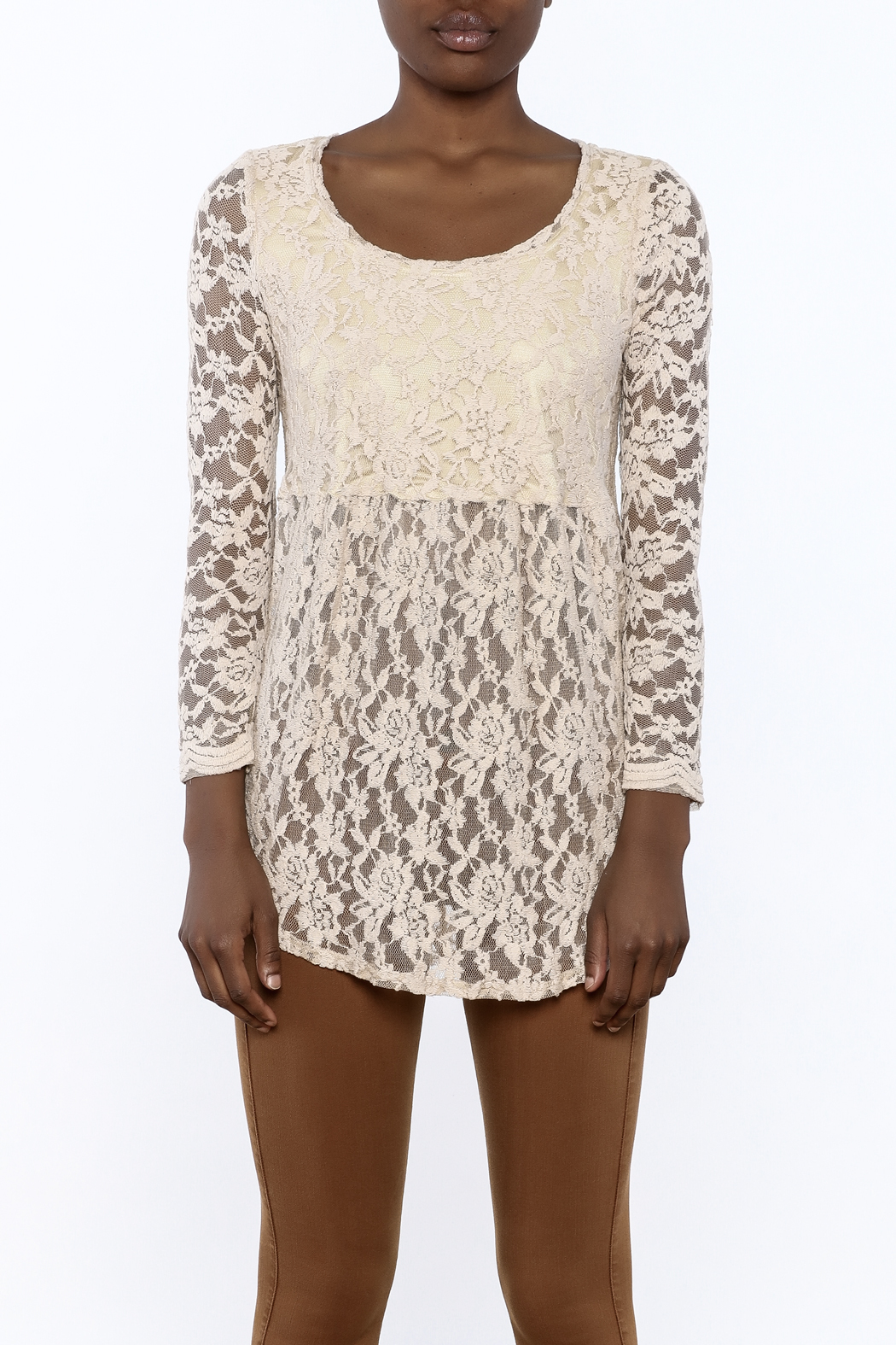 Ivy Jane Baby Doll Lace Top - Side Cropped Image