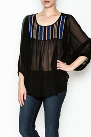 Ivy Jane Black Peasant Top - Front cropped
