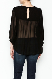 Ivy Jane Black Peasant Top - Back cropped