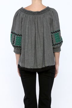 Shoptiques Product: Embroidered Peasant Top