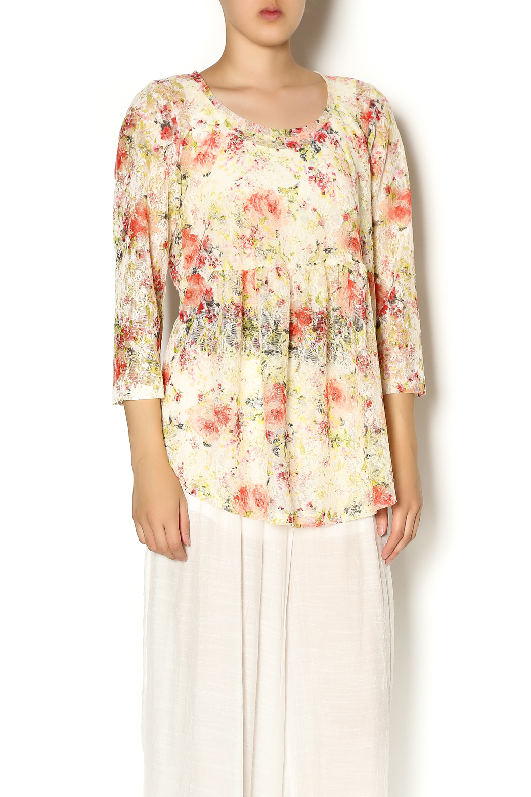Ivy Jane Floral Nancy Top - Front Cropped Image