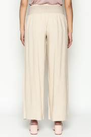 Ivy Jane Khaki Linen Pants - Back cropped