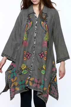 Shoptiques Product: Peacock Button Down Tunic