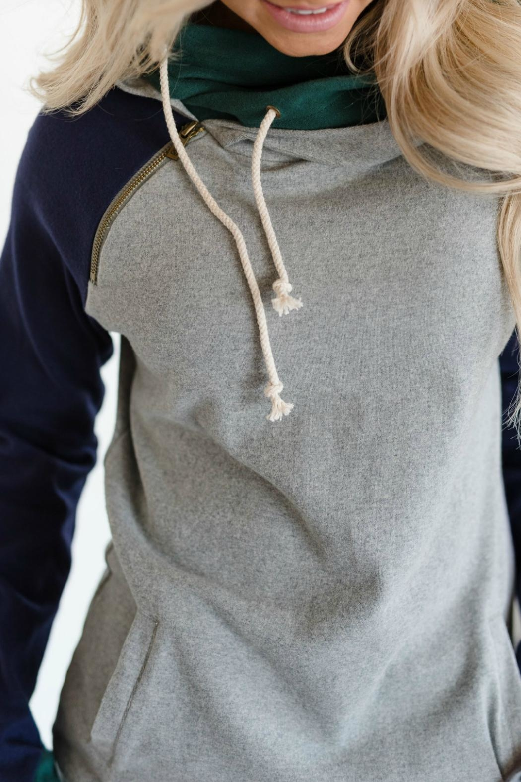 Ampersand Ivy League Double-Hoodie - Back Cropped Image