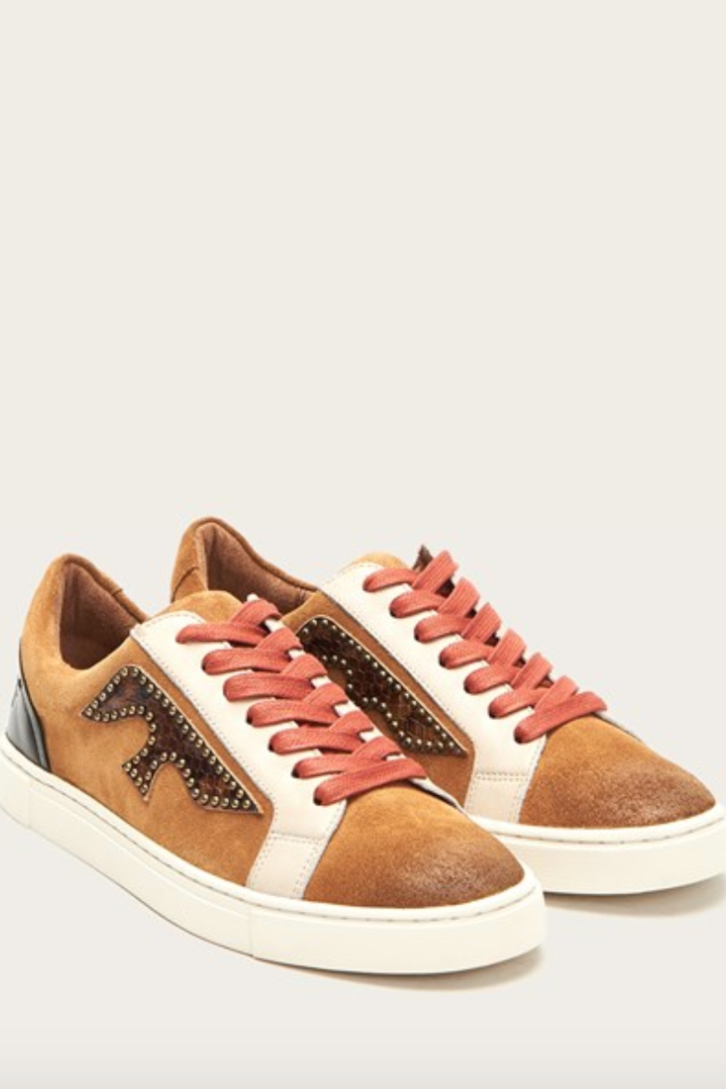 Frye Ivy Logo Patch Low Sneaker - Front Cropped Image