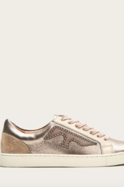 Frye Ivy Logo Patch Low Sneaker - Back cropped