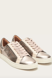 Frye Ivy Logo Patch Low Sneaker - Front cropped