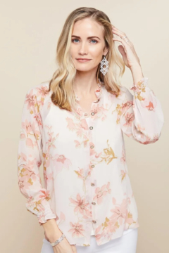 Spartina 449 Ivy Silk Blouse - Product List Image