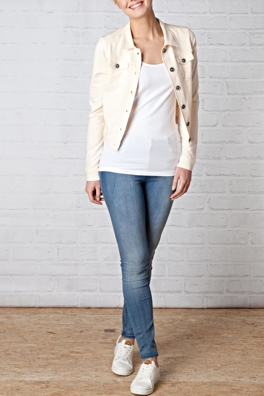 Ivy Beau Stretch Denim Jacket - Front Cropped Image