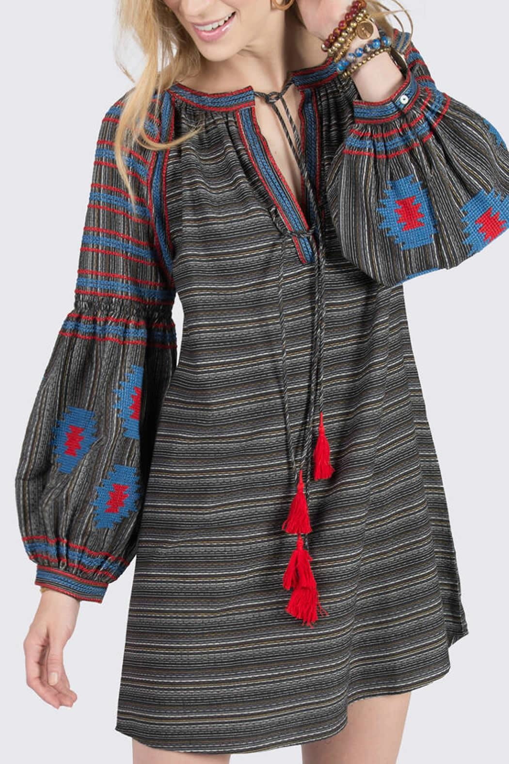 Ivy Jane Striped Aztec Tunic - Front Cropped Image