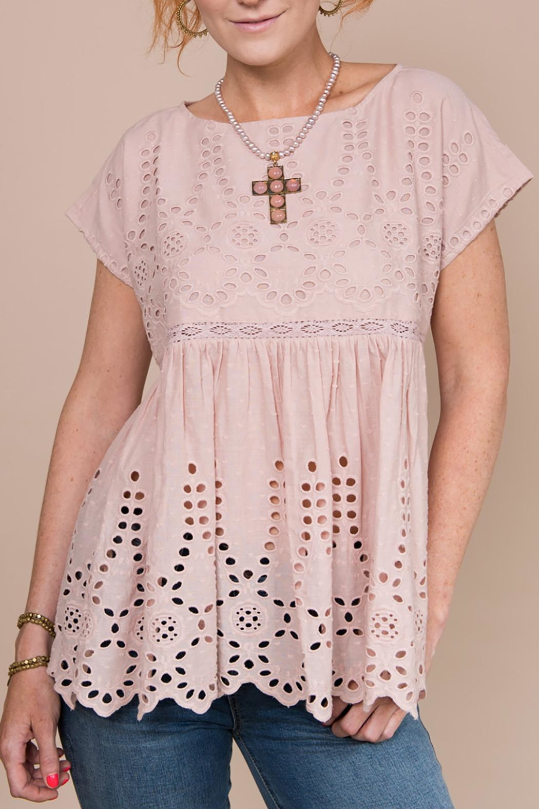 Ivy Jane Eyelet Baby-Doll Top - Front Cropped Image