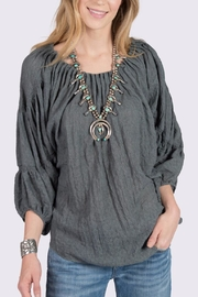 Ivy Jane Boho Charcoal Top - Front cropped