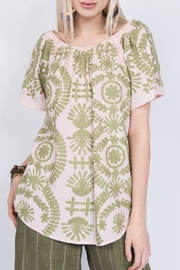 Ivy Jane Crewel Embroidered Top - Front cropped