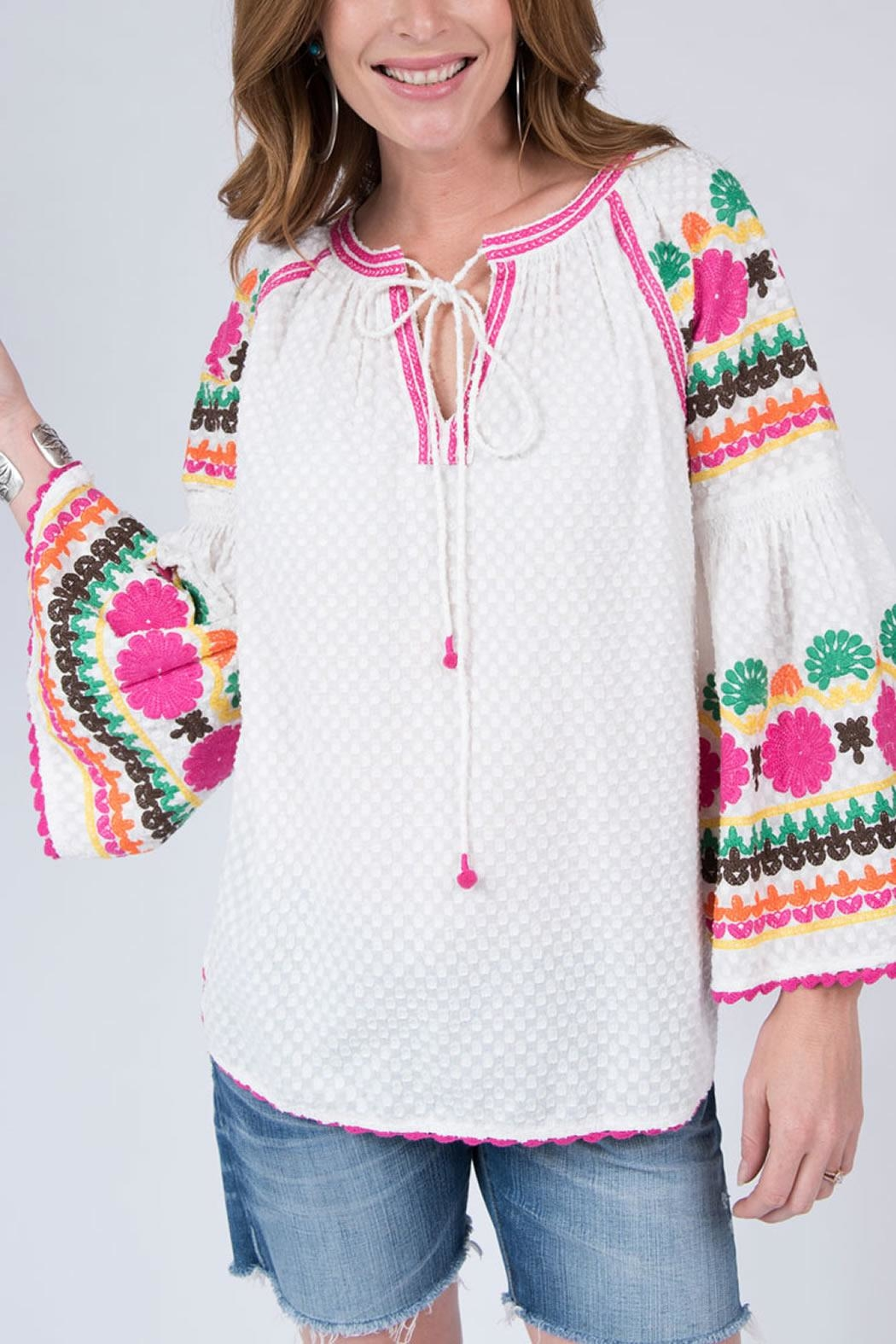 Ivy Jane Daisy Embroidered Top - Main Image
