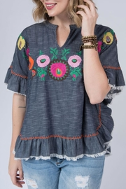 Ivy Jane Embroidered Poncho - Product Mini Image