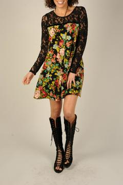 Ivy Jane Floral Black Lace Dress - Alternate List Image