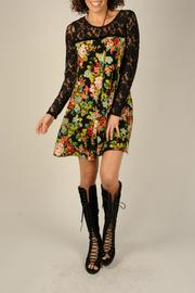 Ivy Jane Floral Black Lace Dress - Product Mini Image