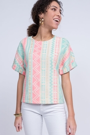 Ivy Jane Pastel Taylored Tapestry Top - Front cropped