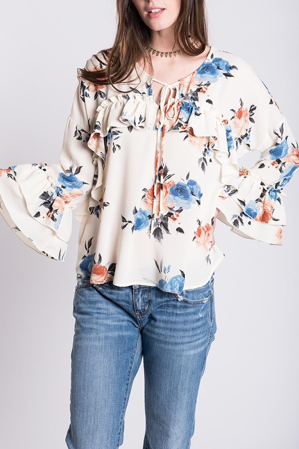 Ivy Jane Ruffle Floral Top - Main Image