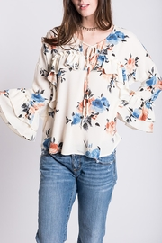 Ivy Jane Ruffle Floral Top - Product Mini Image