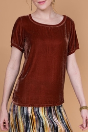 Ivy Jane Silk Velvet Tee - Front cropped
