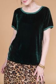 Ivy Jane Silk Velvet Top - Front cropped