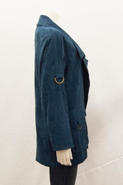 Ivy Jane Suede Notched-Lapel Coat - Front full body