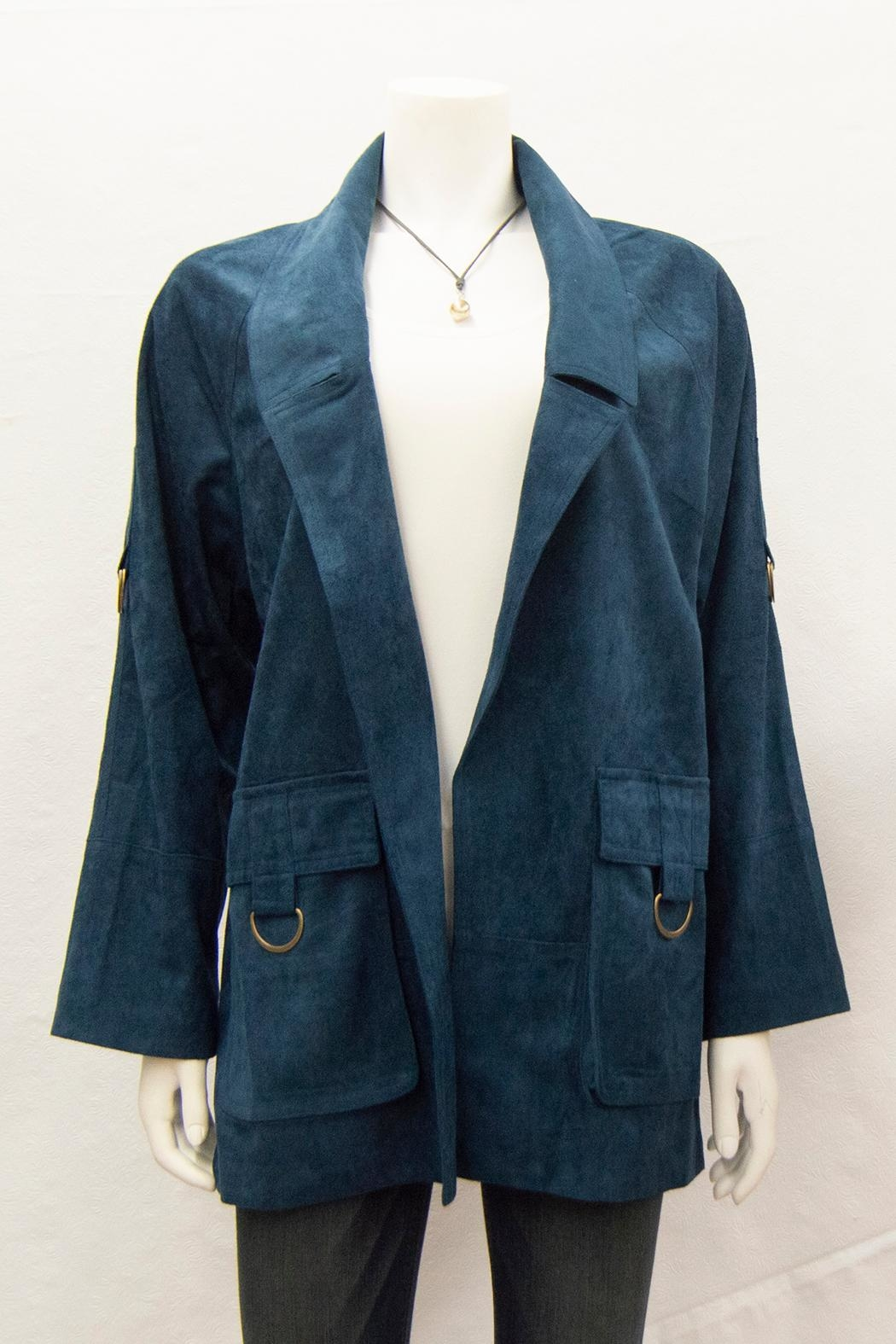 Ivy Jane Suede Notched-Lapel Coat - Main Image