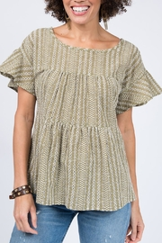 Ivy Jane Tiered Eyelet Top - Product Mini Image