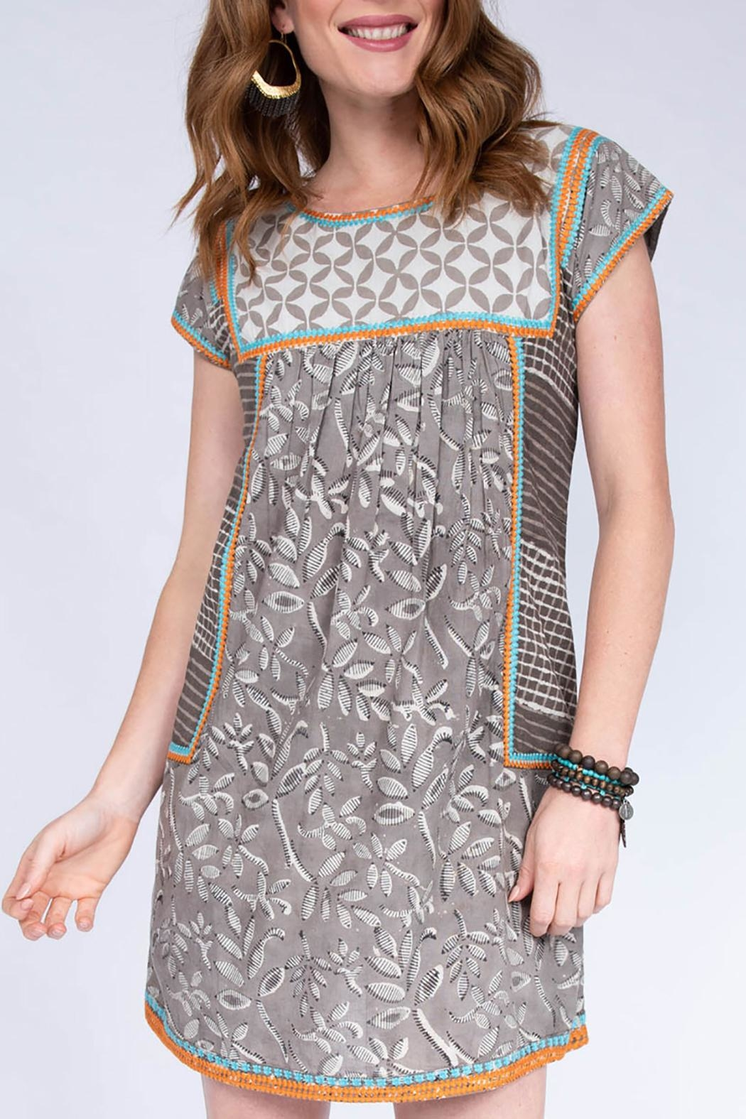 Ivy Jane / Uncle Frank  Batik Embroidered Dress - Main Image