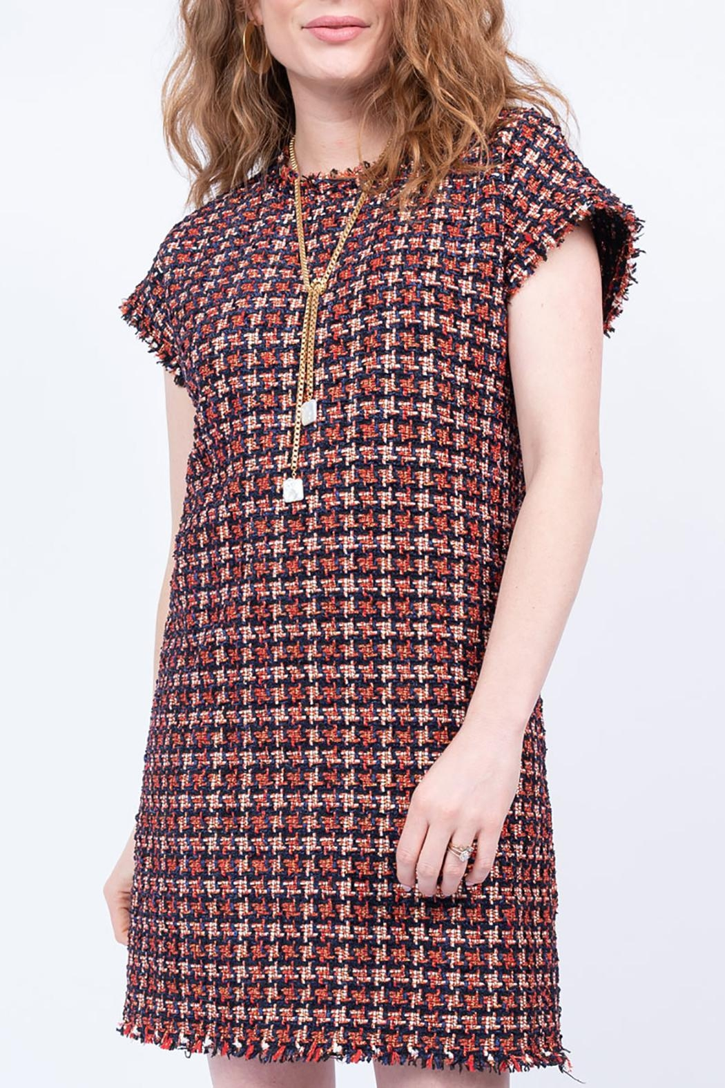 Ivy Jane / Uncle Frank  Chenille Houndstooth Shift Dress - Main Image