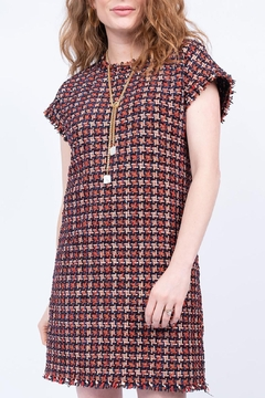 Shoptiques Product: Chenille Houndstooth Shift Dress