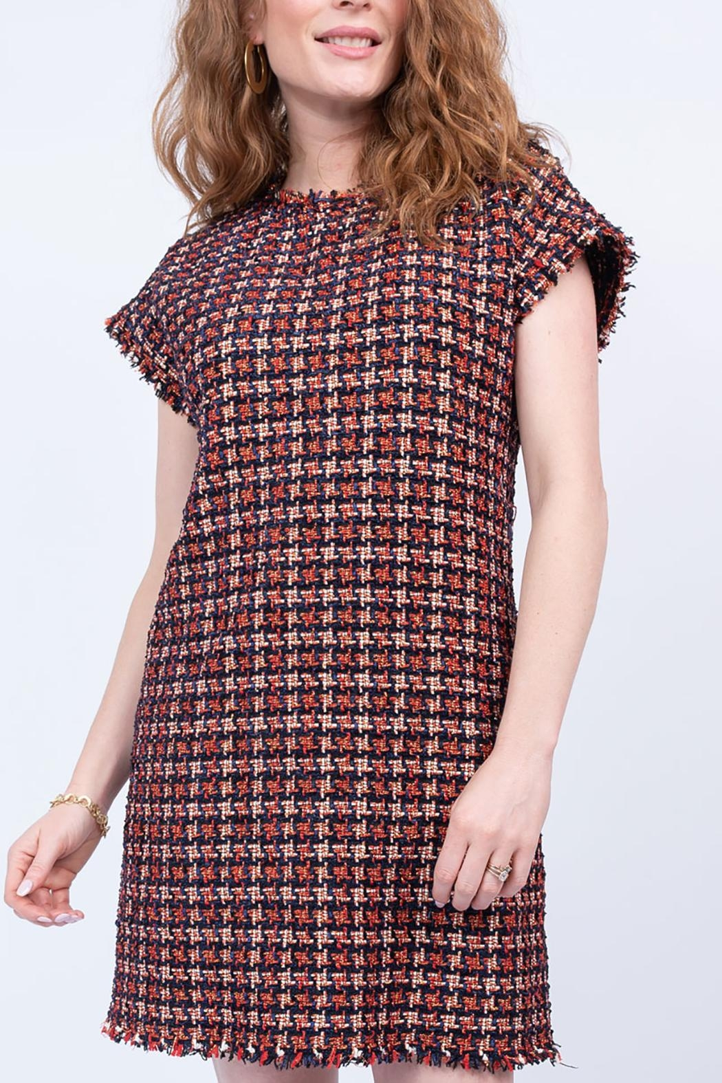 Ivy Jane / Uncle Frank  Chenille Houndstooth Shift Dress - Front Full Image