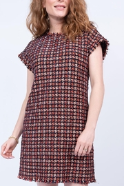 Ivy Jane / Uncle Frank  Chenille Houndstooth Shift Dress - Front full body